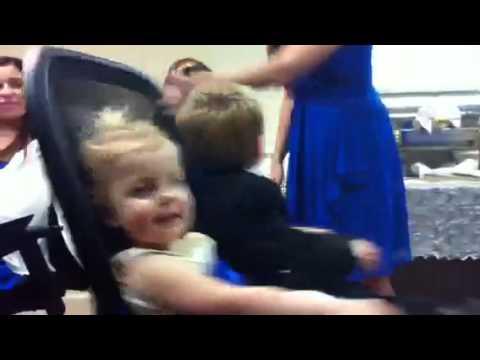 Kids spinning at Uncle Chris' wedding