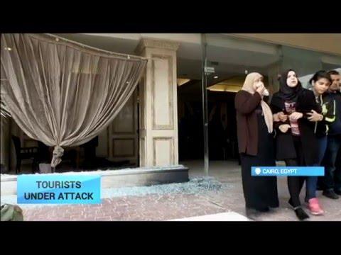 Tourist under Attack: Gunmen open fire on tourists boarding bus in Cairo