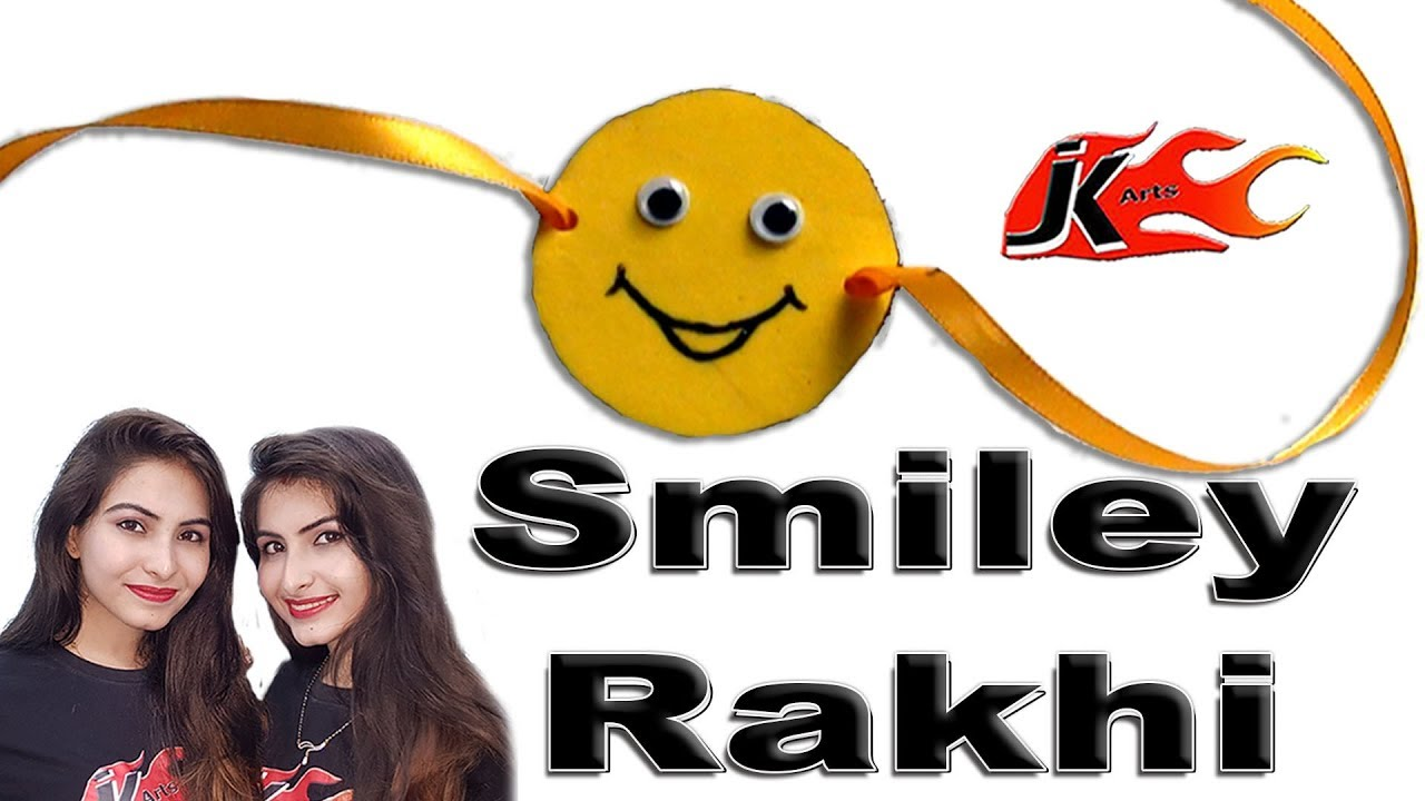 DIY Easy Smiley Rakhi for Kids | How to make | JK Arts 285 - YouTube