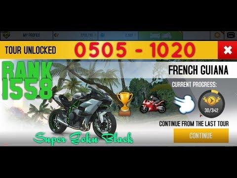 Asphalt 8: Kawasaki Ninja H2R | 0505 - 1020 | FRENCH GUIANA championship