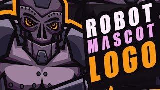 Adobe Illustrator • Logo MASCOT Illustration Robot