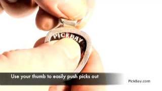 PickBay Guitar Pick (Plectrum) Holder Necklaces--Easily Change Picks