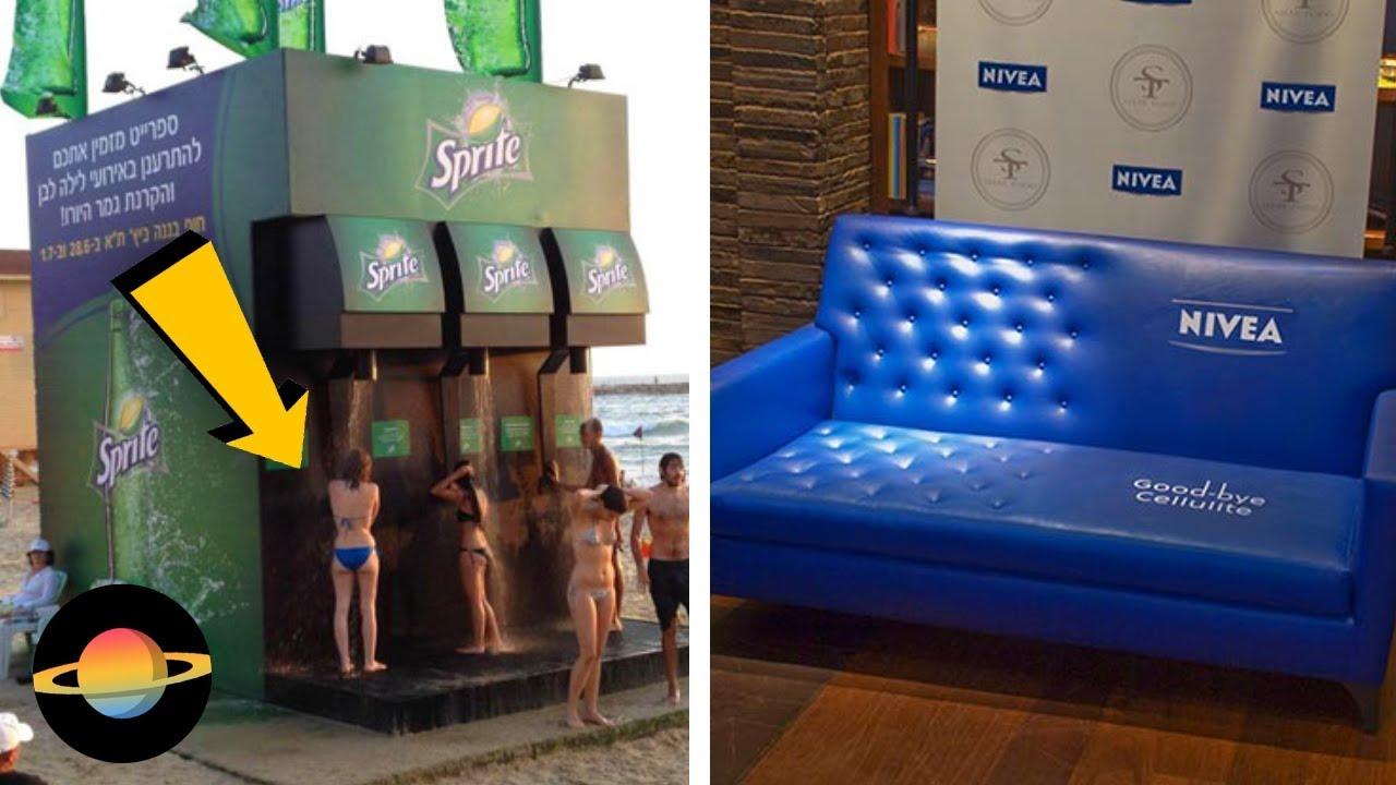 10 kreatywnych reklam w nietypowych miejscach