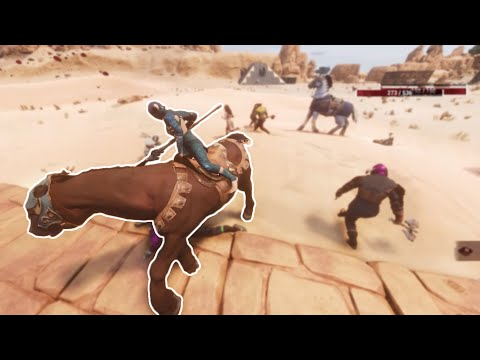 Conan Exiles - Fighting at Sink Hole |