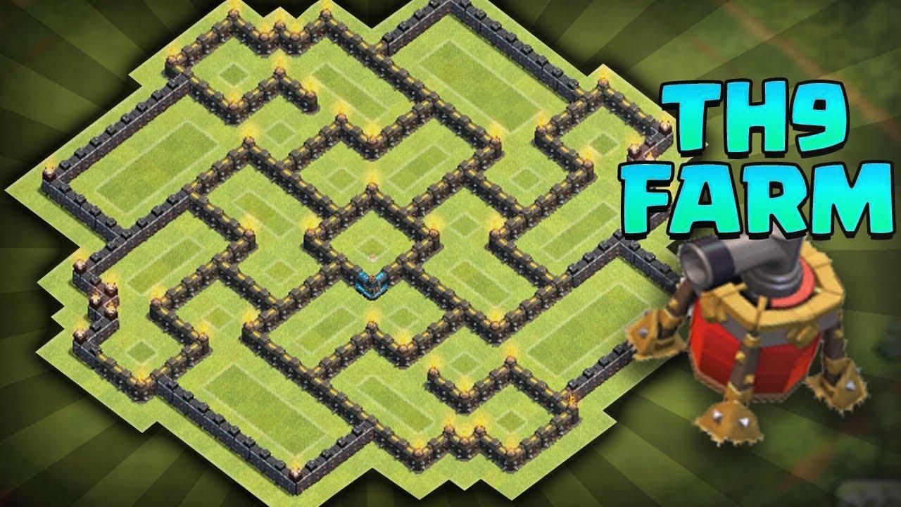 Base farming municipio 9 con volan 242 th 9 farming base clash of clans