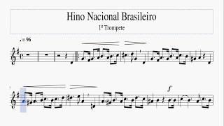 Baixar Partitura - Hino Nacional Brasileiro (1º Trompete)