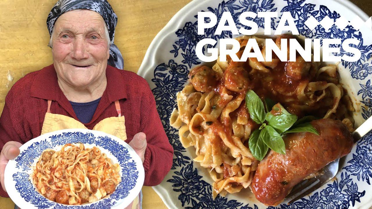 Meet 98 year old Marietta, who makes pasta with meatballs! | Pasta Grannies