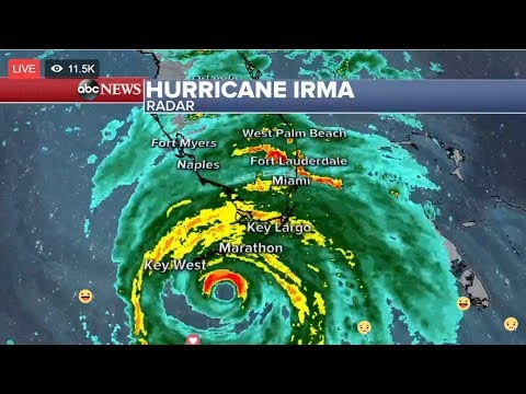Hurricane Irma is nearing Florida and has strengthened to a Category 4 storm