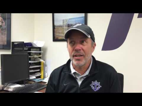 University of Portland men's track coach Rob Conner eyes the NCAA Championships