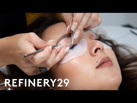 I Got $200 Eyelash Extensions For The First Time  Macro Beauty  Refinery29
