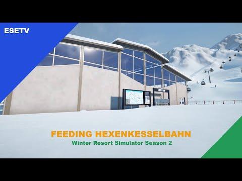 Feeding the Hexenkesselbahn, Winter Resort Simulator Season 2 gameplay |