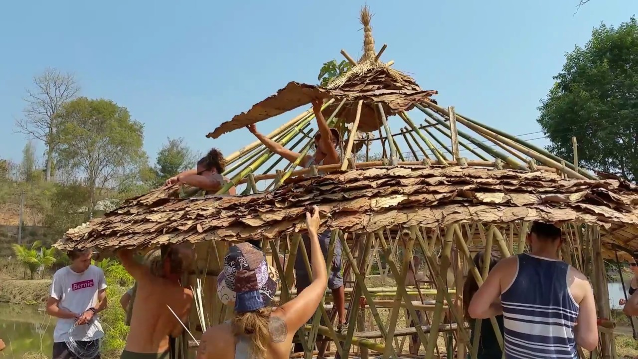 Bamboo Yurt Building Workshop Youtube