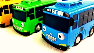 Vidéo en français pour enfants. Apprendre les couleurs avec les bus Tayo