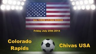 Colorado Rapids vs Chivas USA Predictions Major League Soccer 2014