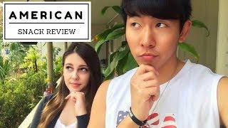AMWF Couple Reviews | American Snack Food | AKA 국제커플 미국 월마트 과자 리뷰! Video