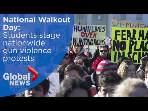 Students protest gun violence in mass walkout across U.S. (FULL march)