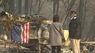 With More Than 1,000 People Unaccounted For, Trump Visits California Fire Zones | NBC Nightly News