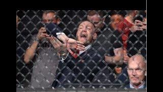 Conor McGregor REAPARECE en UFC Gdansk para apoyar a su compañero Artem Lobov