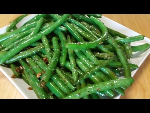 Garlic And Olive Oil Sauteed Green Beans-In The Kitchen With Sandy Episode 53