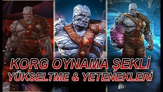 KORG GAME PLAY + RANK UP + ABILITY FULL - MCOC - MARVEL CONTEST OF CHAMPIONS