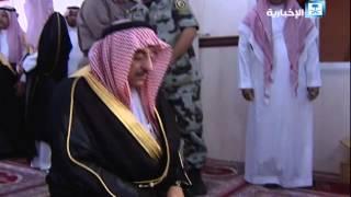 ولي العهد السعودي يتفقد مسجد قوة الطوارئ