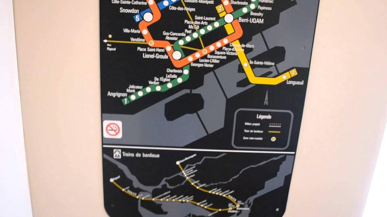 Stcum Metro Map.Vintage Stcum Montreal Metro System Map Youtube