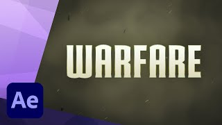 How to create an Epic Warfare Trailer Title animation in Adobe After Effects thumbnail