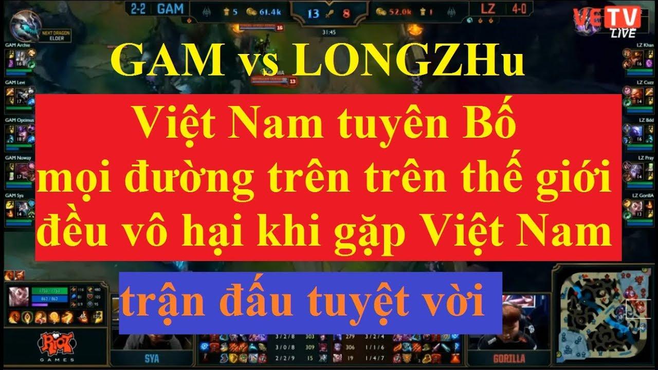 Vòng bảng CKTG 2017 GAM vs LongZhu lượt về ngày 12/10/2017 | gigabyte marines hơn LongZhu 10k tiền