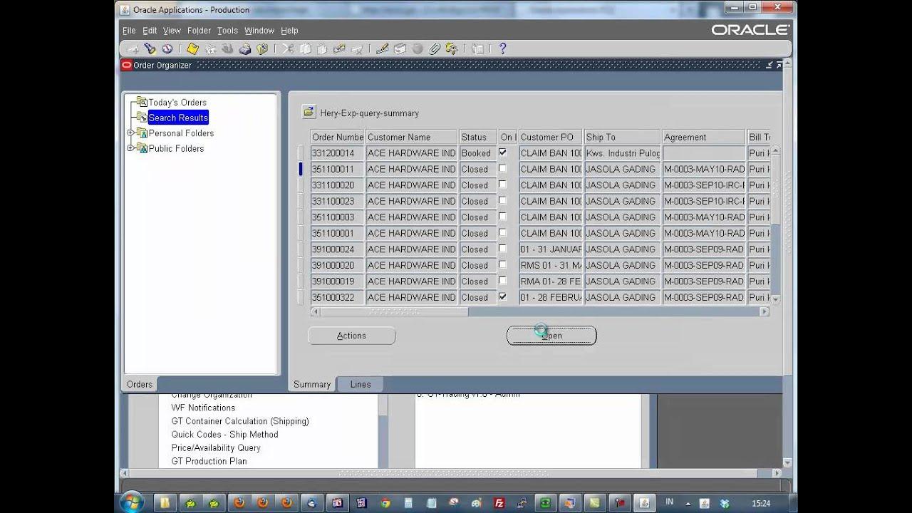Oracle-find Sales Order mp4