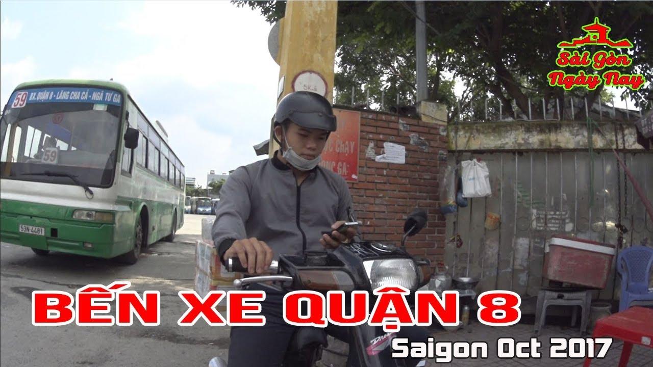 SÀI GÒN 6.10.2017, Vietnam, MỘT VÒNG BẾN XE QUẬN 8