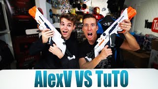 AlexV vs TuTo Nerf Laser Ops Battle | Unboxing - Review [Deutsch/German]
