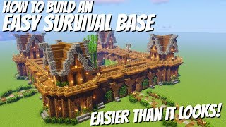 How to build a Base in Minecraft with Everything: Easy Minecraft Survival Base Avomance 2020