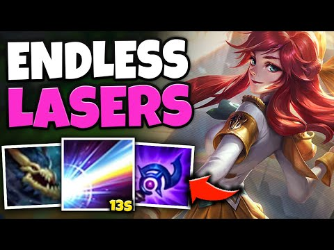 13 SECOND LUX ULT?! SPAM LASER LIKE A DEATH STAR WITH ULT BOT LUX - League of Legends