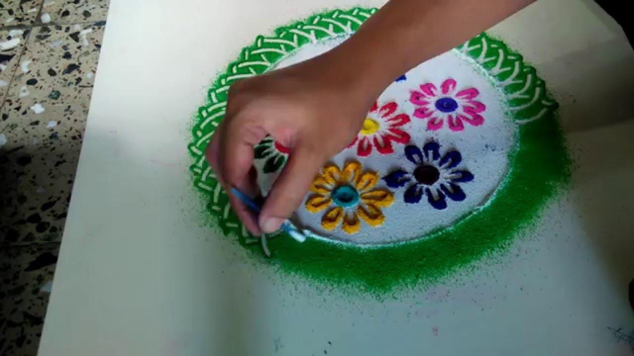 Beautiful Designs beautiful rangoli designs - youtube