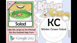 Winter Green Salad - Kitchen Cat
