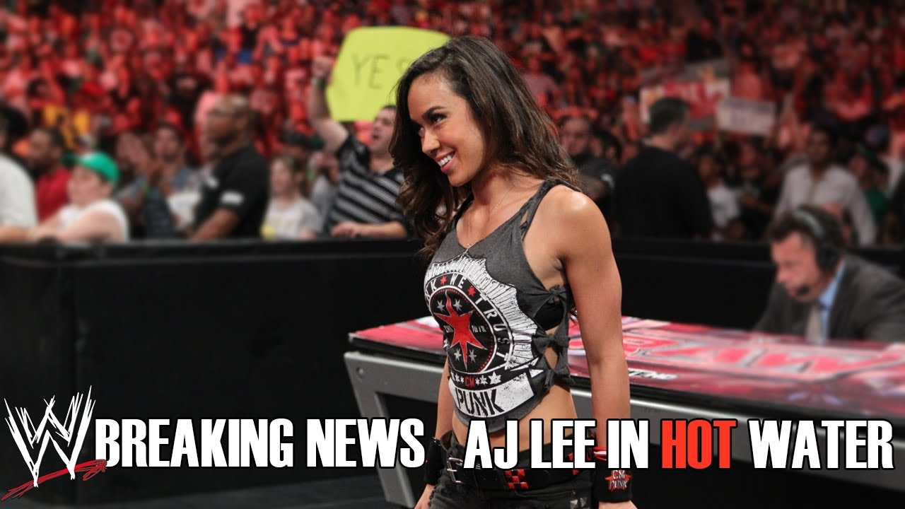 WWE Breaking News: AJ Lee In Hot Water? [RUMOR] - YouTube