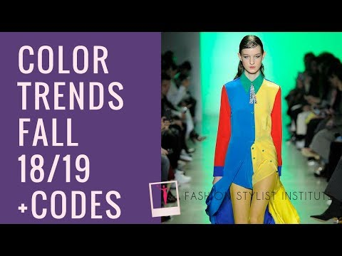FW 2018 2019 Color Trends by Pantone (with codes)