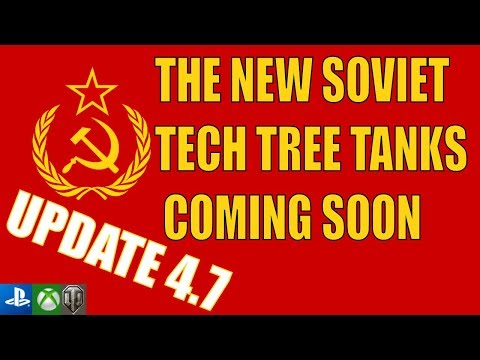 NEW SOVIET TANKS COMING SOON in update 4.7 - World of Tanks Console thumbnail