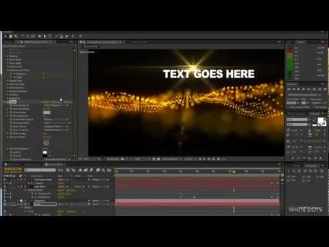 Adobe after effects Tutorial #5 Particle effects