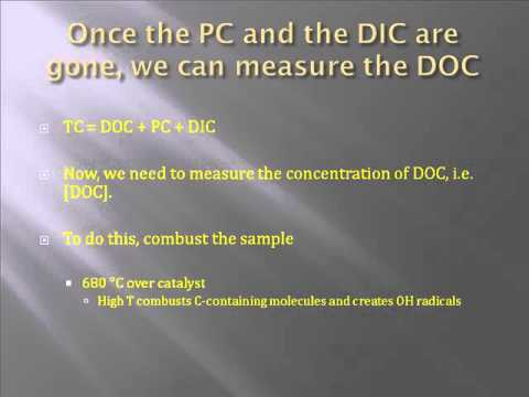 Dissolved Organic Carbon (DOC) analysis