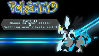 Let's Play! PokéMMO for Android! Part 1 collecting your starter & Battling Rivals and N!