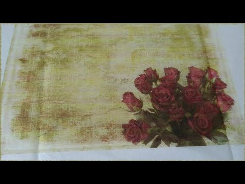 Printing on Tissue Paper for Decoupage Tutorial (DIY)