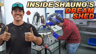 SHAUNO SETS UP HIS DREAM SHED! Top 10 tools for DIY Projects!