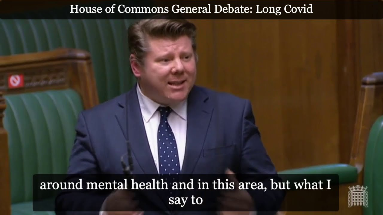 Dean Russell MP speaks about the importance of Long Covid