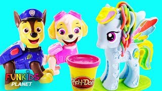 Paw Patrol and My Little Pony Magical Rainbow Play-Doh Party
