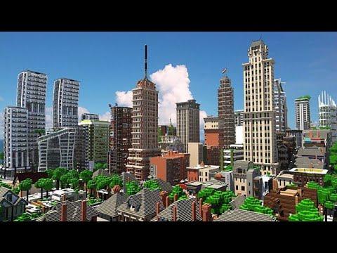 Visite ville moderne minecraft city craft youtube for Ville moderne