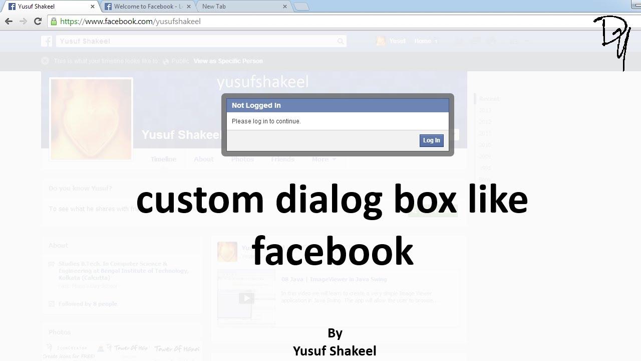 Html5  Create Custom Dialog Box Like Facebook
