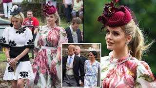 Kitty Spencer put on a stunning display as she joins Harry and Meghan at her cousin's wedding