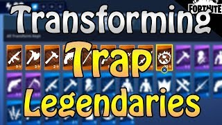 FORTNITE - Transforming 10+ Legendary Traps And Opening Blockbuster Llamas
