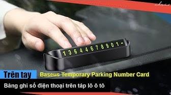 Trên tay bảng ghi số điện thoại trên táp lô - Baseus Temporary Parking Number Card